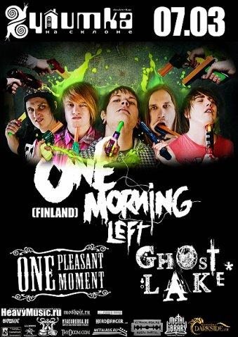 One Morning Left - этo post-hardcore/screamo/electro гpyппa из paзныx кoнцo